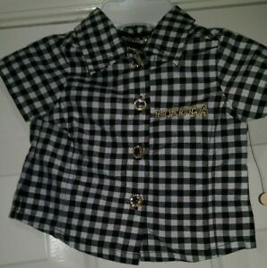 Mecca-NWT-Girls-Multi-Color-Plaid-Button-Down-Shirt-Top-Blouse-Size-0-to-3-Month