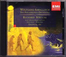 SAWALLISCH: R. STRAUSS Also sprach Zarathustra Don Juan Burleske CD Emanuel AX