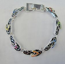 Silver Flip Flop Sandal Beach Summer Charm Bracelet Magnetic Clasp # 8356 Gift