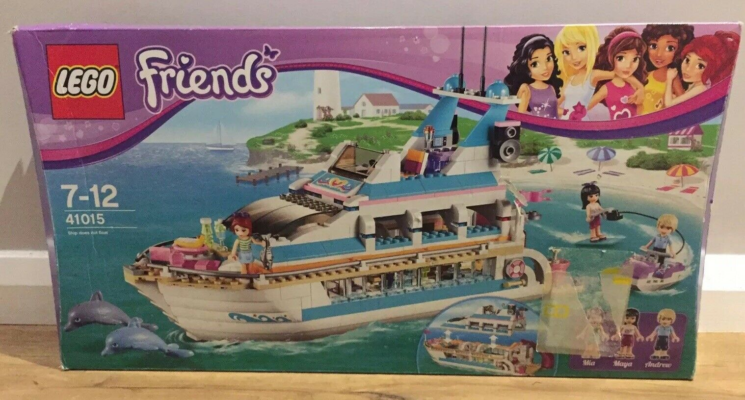 100% COMPLETE LEGO FRIENDS DOLPHIN CRUISER 41015. BOXED, INSTRUCTIONS