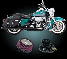 "2002 - 2007  Harley FLH Touring 4"" Rinehart True Duals Complete Power Pack FLHX"