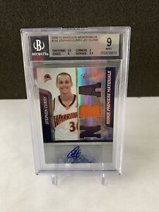2009-STEPHEN-CURRY-ABSOLUTE-ROOKIE-PATCH-AUTO-499-BGS-9-W-10-AUTO-3PT
