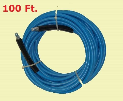 """100ft 1//4/"""" 3000 PSI Blue Carpet Cleaning Solution Hose Machine Equipment Wands"""