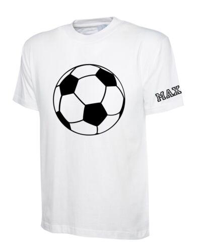 Personalisiert Kinder Baumwolle T-Shirt mit Motiv /& Name auf der Ärmel Unisex