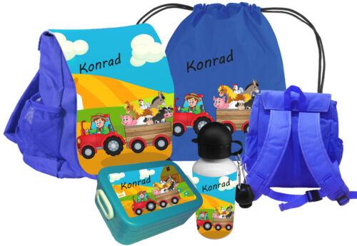 Kindergartenrucksack CHiCO Bauernhof Wunschname Brustgurt Kinderrucksack