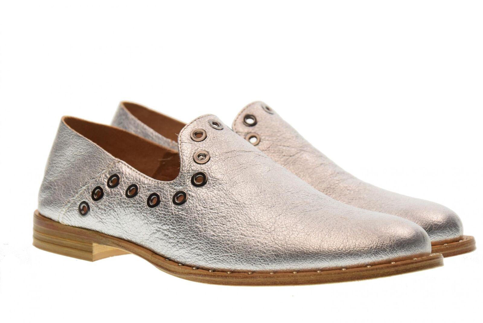 Allemand P18us Chaussures Femme Mocassin ST01 Argent