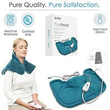 Neck And Shoulder Heat Electric Pain Relief Back Heating Pad Relaxing Therapy 1d