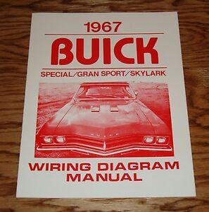 1967 buick special gran sport skylark wiring diagram manual 67 ebay rh ebay com