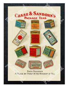 Historic-Chase-amp-Sanborn-039-s-Package-Teas-Advertising-Postcard