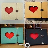 Hollowed Heart Shape Photo Photography Album Scrapbook Sticker Craft Memory L3