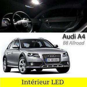 Kit-eclairage-interieur-ampoules-a-LED-Blanc-pour-Audi-A4-B8-Allroad-Quattro