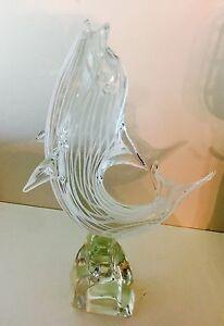 Magnum-Licio-Zanetti-Italian-Murano-Art-Glass-Frolicking-Dolphin-14-034-Signed