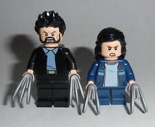 MOVIE Lego Logan & Laura Authentic Lego Parts X-Men Custom LOGAN MOVIE