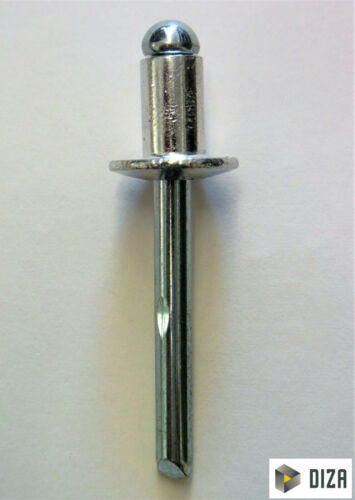 Blindnieten Popnieten DIN 7337 ALU//Stahl Flachkopf Nieten 50 Stück