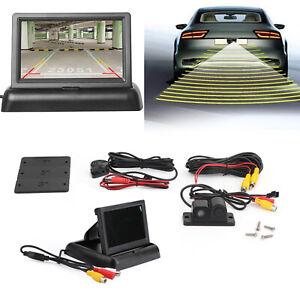Parking-Sensor-Radar-Beeper-Car-Voiture-Camera-de-Recul-4-3-034-LCD-Mirror-Kit-FR