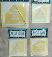 Lot Of 4 Provo Craft 3mm Glass Shapes Small & Large Triangles & Tear Drop