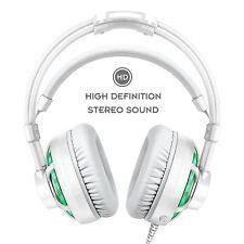 Honstek Stereo Gaming Headset LED Over-Ear Headphone with Mic Vibration for PC