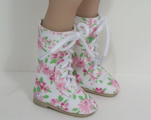 FLORAL LaceUp Boots Doll Shoes For Dianna Effner 13 Little Darling Vinyl (Debs)