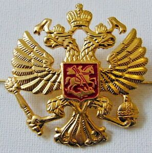Russian-Army-Military-Imperial-Eagle-Hat-Cap-Beret-Metal-Pin-Badge-Good-Quality