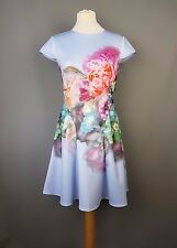 Ted Baker dress Bowkay floral focus bouquet skater Size 3 UK 12