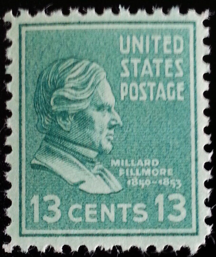 1938 13c Millard Fillmore, 13th President Scott 818 Min