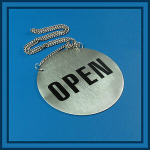 OPEN-CLOSED-SIGN-Plate-for-Business-Shop-Bar-Restaurant-diam-13-cm-stainless