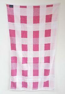 Kingsley-Checked-Pink-White-Luxury-100-Cotton-Bath-Towel-Robe-Sheet-125x70cm