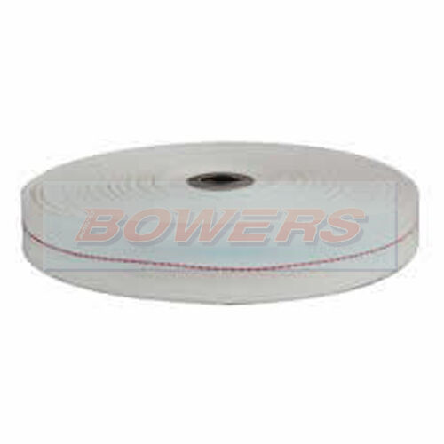 DURITE 0-528-00 WOVEN EGYPTIAN COTTON FIELD COIL TAPE WHITE//RED LINE 16mm x 50m