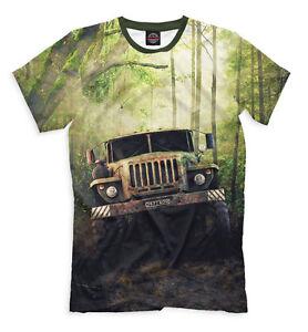 URAL-truck-t-shirt-Offroad-motor-lorry-tee-best-russian-offroader