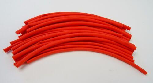 Schrumpfschlauch 2:1 2 Meter rot 1,6//0,8mm für dünne Litze oder LED