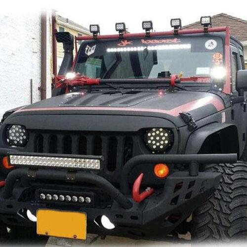 2PCS 49-54mm Bull Bar Mounting Bracket Clamp Vehicle LED HID Driving Light Valid