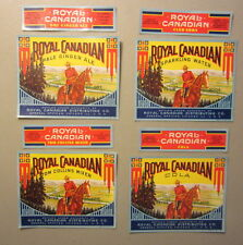 Lot of 8 Old c.1940's - ROYAL CANADIAN - SODA Bottle LABELS - Mounted Police