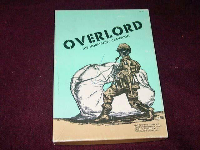 Conflict Games 1973 - OVERLORD - The Normandy Campaign Game - (bluee Box)