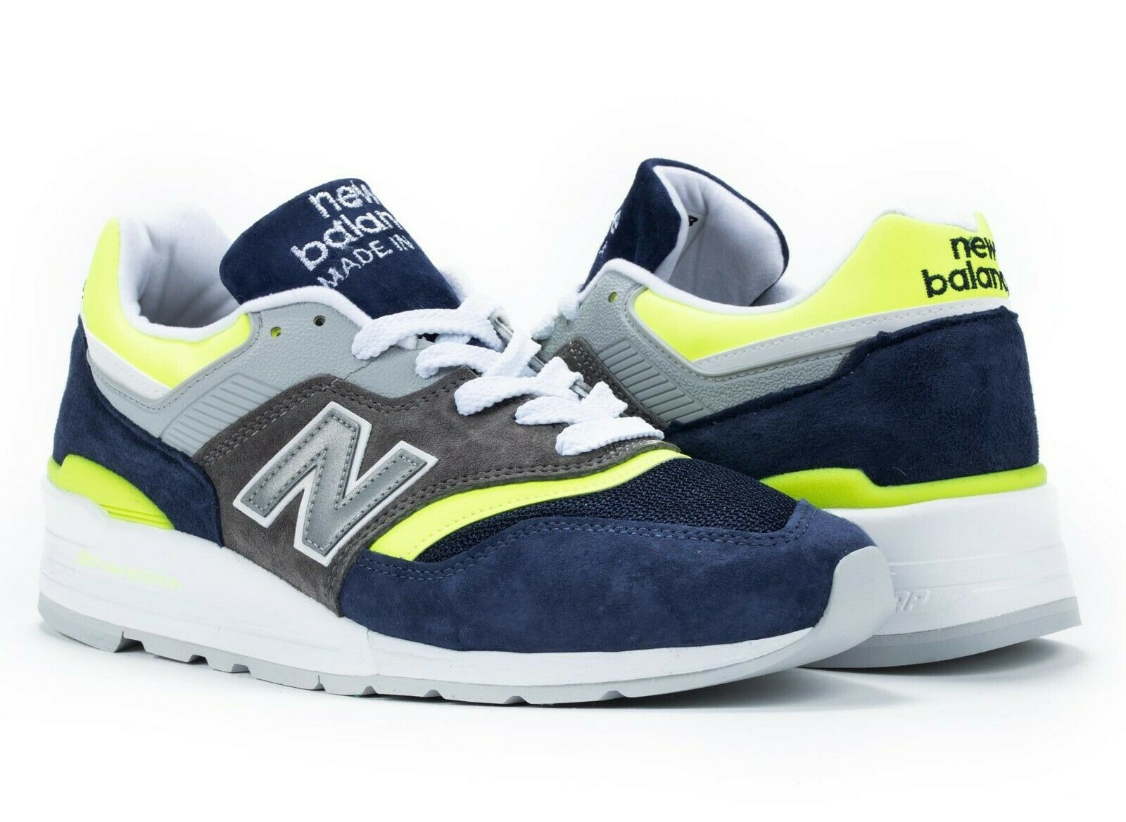 NEW BALANCE 997 MADE IN USA NAVY GREY YELLOW NEW