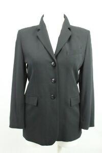 Das Bild wird geladen Business-Long-Blazer-Jacke-Gr-38-40-Schwarz 397b349cc0