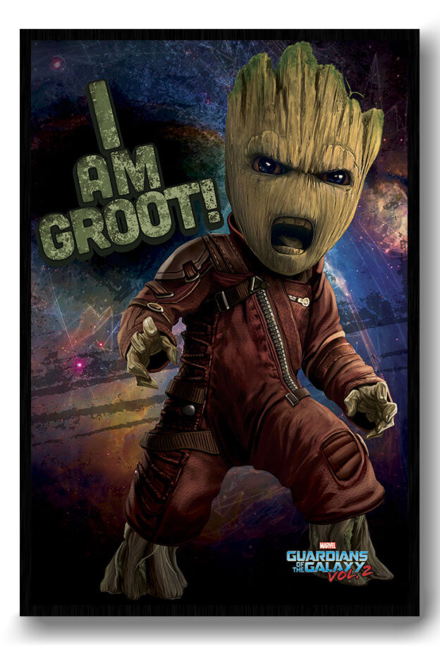 Guardians Of The Galaxy Vol 2 Angry Groot Magnetic Notice Board Inc Magnets