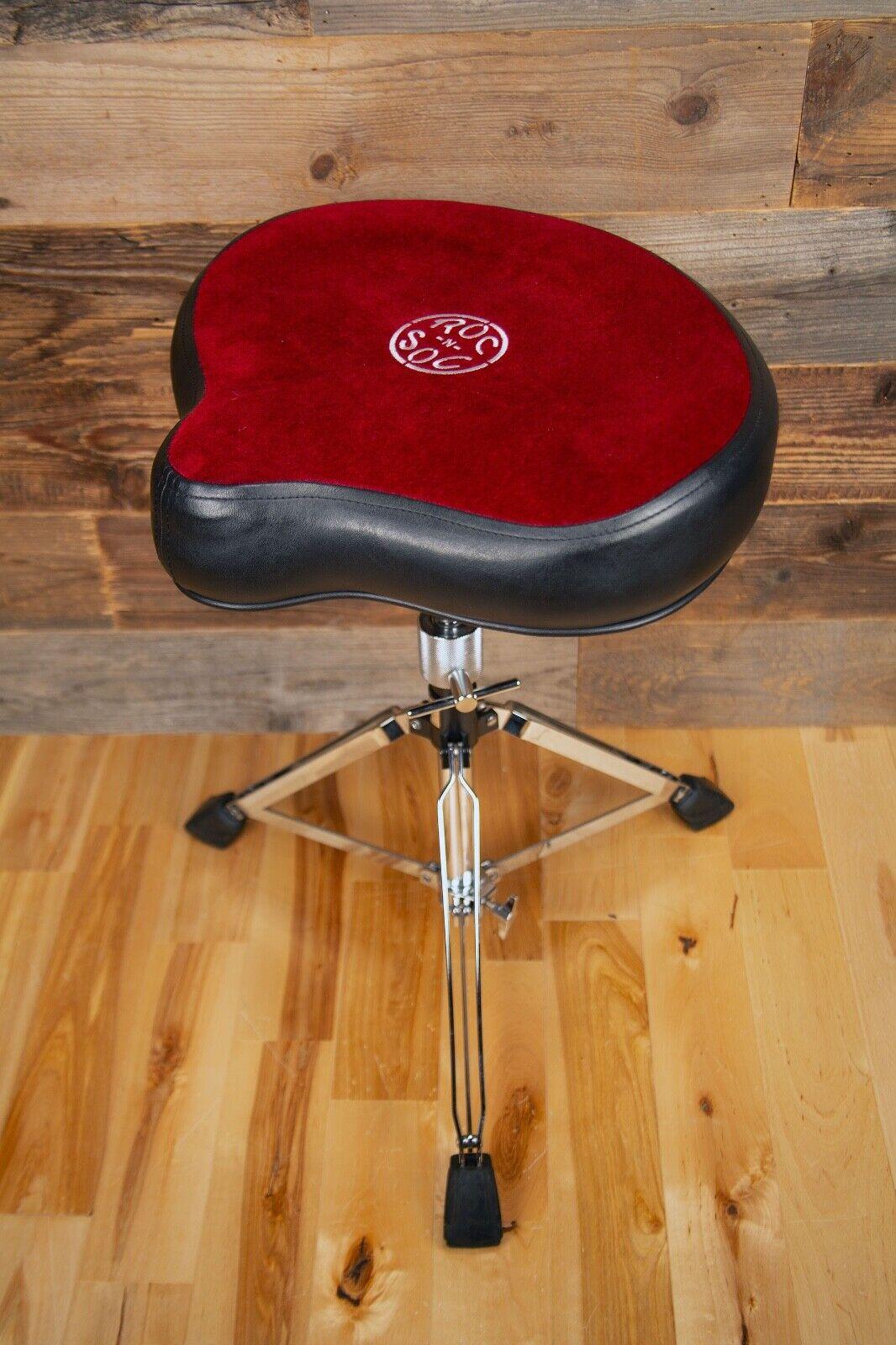 Roc N Soc Original Motor Cycle (Saddle) Drum Throne, Drum Stool, rot