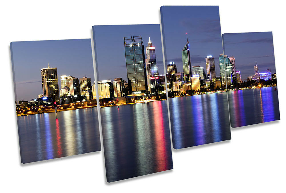Perth Australia Skyline Picture MULTI CANVAS WALL ART Print