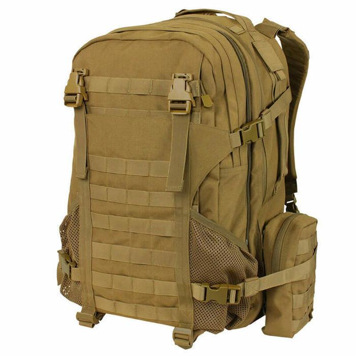 Condor Sac à Dos Tactical Orion Assault 52L Militaire ASG MOLLE Coyote marron