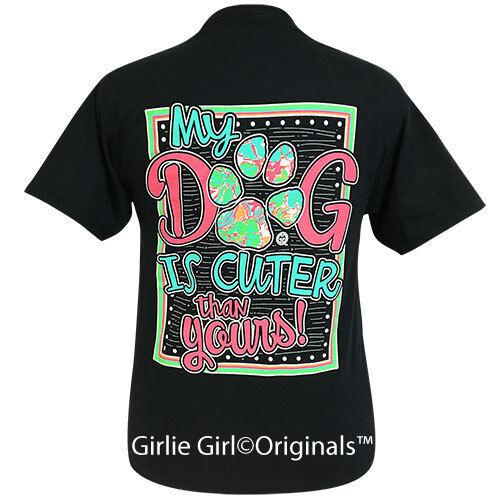 Girlie Girl Originals Tees My Dog Black Short Sleeve T-Shirt