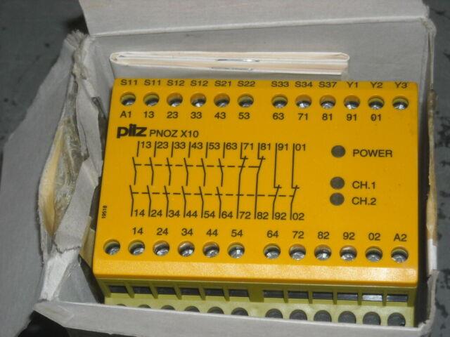 774009 PNOZ 10 24v Safety Relay Pilz PNOZ 10 24vdc 6n//o 4n//c ID No