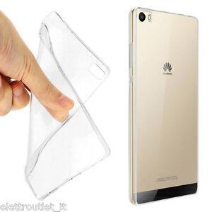 Dettagli su COVER Custodia Case MORBIDA TPU TRASPARENTE Silicone GEL per Huawei P9 LITE