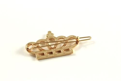 Haarklammer Haarspange Krone Crown gold silber Haarschmuck A529a