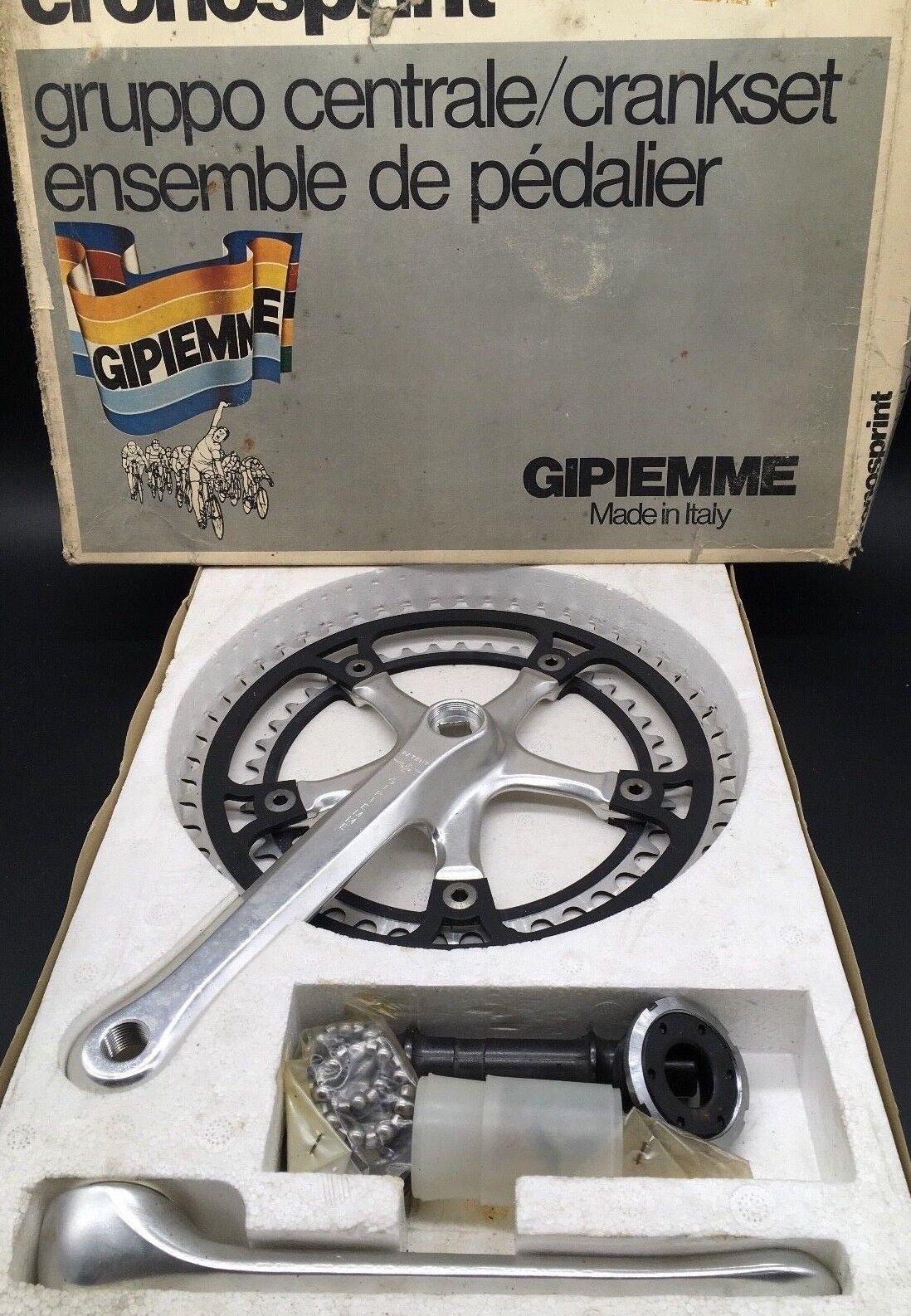 Vintage GIPIEMME Chrono Sprint Kurbelsatz 53 42t NIB Länge 170mm NOS