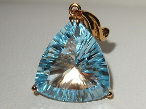 Jewellery Channel 9ct yellow gold Trillion Cut 45ct Sky Blue Topaz Pendant - <span itemprop='availableAtOrFrom'>Cheadle, United Kingdom</span> - Jewellery Channel 9ct yellow gold Trillion Cut 45ct Sky Blue Topaz Pendant - Cheadle, United Kingdom