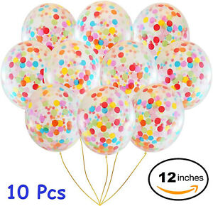 10pcs-12-034-Foil-Latex-Confetti-Balloon-Baby-Shower-Wedding-Birthday-Hen-Party