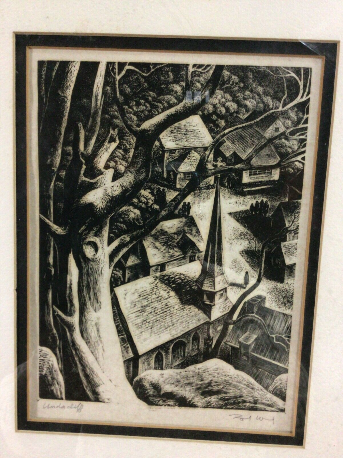 1948 Lynd Ward wood engraving UNDERCLIFF good condition on eBay thumbnail