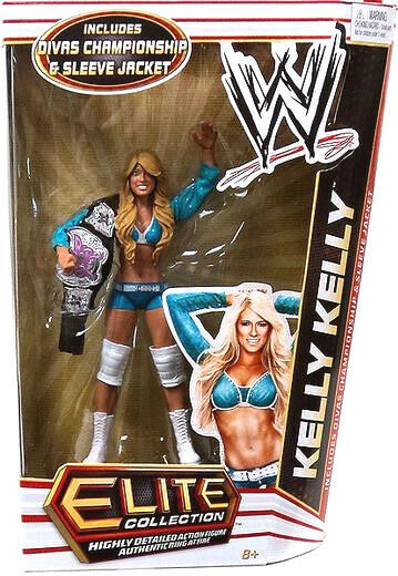 WWE ELITE Collection Series  17_KELLY KELLY figure with Divas Champhionship Belt