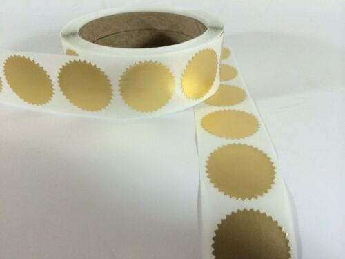 """250 2/"""" Certificate Wafer Seals Labels Awards Legal Embossing Stickers Craft NEW"""