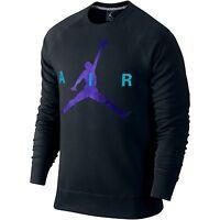 Jordan Jumpman Graphic Brushed Crew Mens' Sweatshirt Black/purple 689014-011 A1